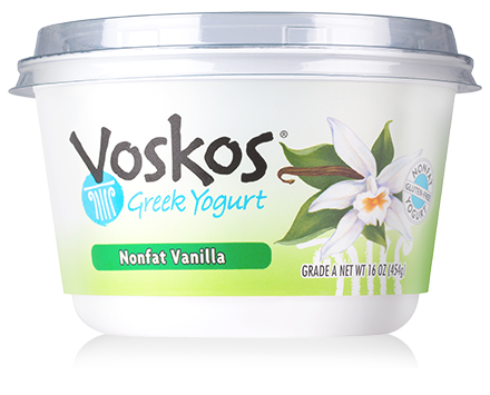 Voskos Nonfat Vanilla 16oz Greek Yogurt