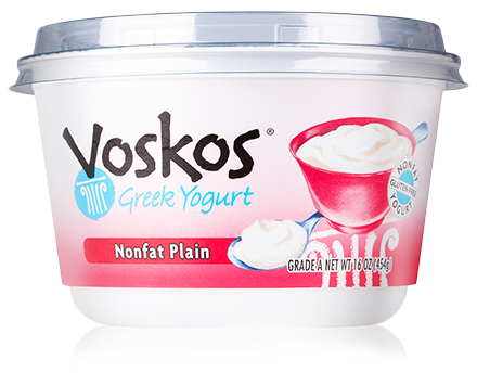 Voskos Nonfat Plain 16oz Greek Yogurt