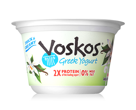 Voskos Nonfat Vanilla Bean 5.3oz Greek Yogurt
