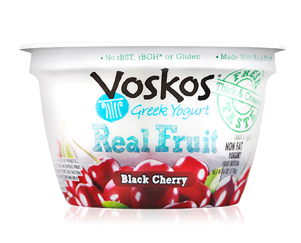 Voskos Fruit on the Bottom Black Cherry 6oz Greek Yogurt