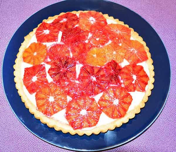 Fresh Blood Orange and Greek Yogurt Tart | Voskos®