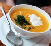 Butternut Squash Soup using Voskos Greek Yogurt