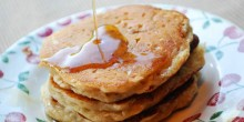 Greek Yogurt Pancakes using Voskos Greek Yogurt