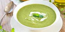 Green Pea Soup using Voskos Greek Yogurt