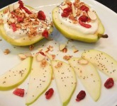 Pears with Vanilla Yogurt and Granola Recipe