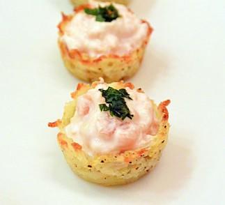Potato Nests with Smoked Salmon Recipe