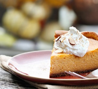 Pumpkin Cheesecake using Voskos Greek Yogurt