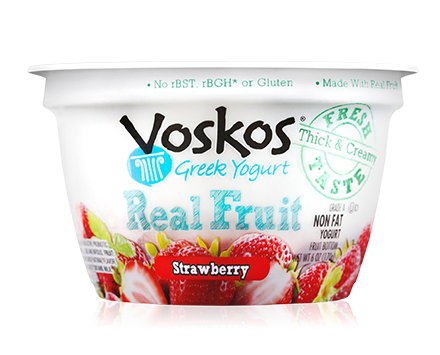 Voskos Fruit on the Bottom Strawberry 6oz Greek Yogurt