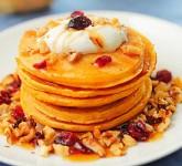 Pumpkin Pancakes Recipe using Voskos Greek Yogurt