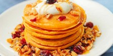 Pumpkin Pancakes Recipe using Voskos Greek Yogurt