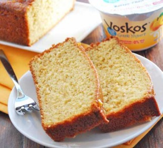 Peach Cake using Voskos Greek Yogurt